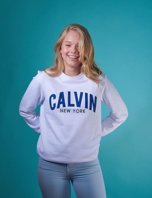 Calvin Klein - LOGO PATCH TERRY SWEATSHIRT