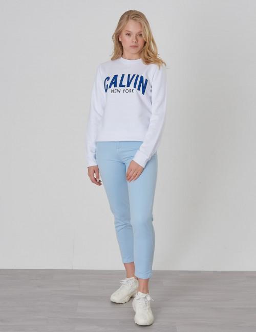 Calvin Klein barnkläder - LOGO PATCH TERRY SWEATSHIRT