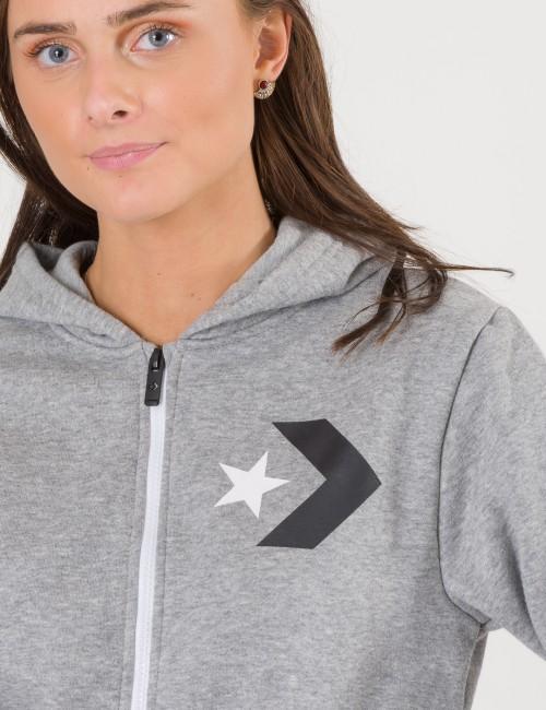 Converse - Star Chevron Graphic Full Zip Hoodie
