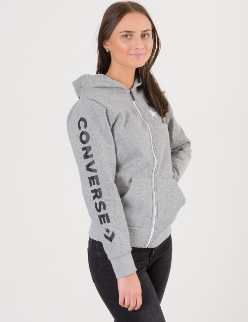 Converse - Star Chevron Graphic Full Zip Hoodie