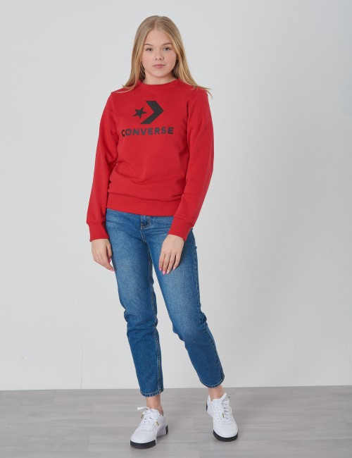 Converse barnkläder - Stacked Wordmark F.T Crew Neck