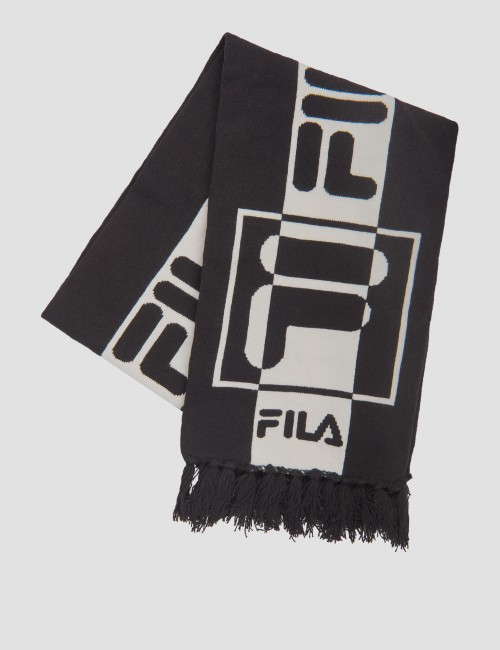 INTARSIA knitted scarf