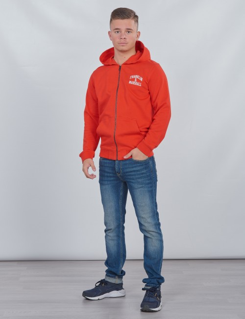 Franklin & Marshall barnkläder - Badge Logo Zip Hoodie