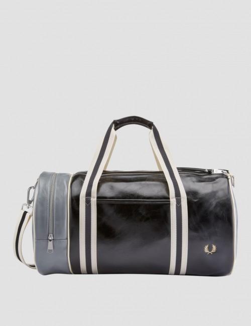 Color Block Classic Barrel Bag