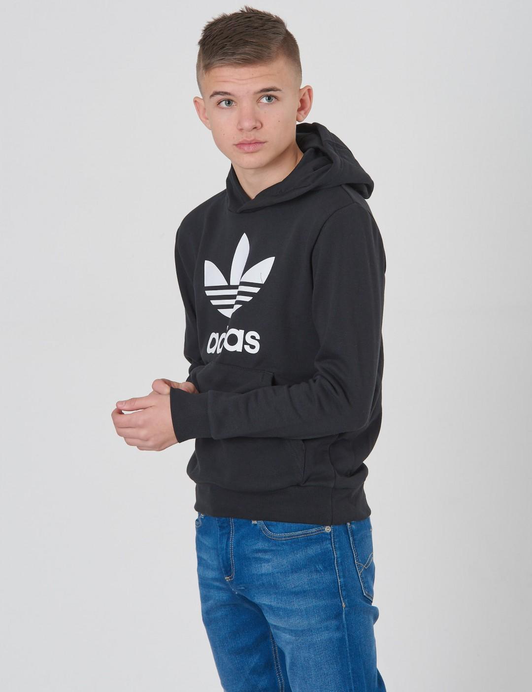 3d9c7725037 Trefoil Hoodie - Zwart - Adidas Originals | KidsBrandStore