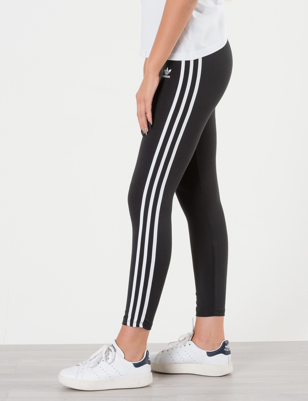 Das Neueste adidas Originals 3 Stripes Leggings Schwarz
