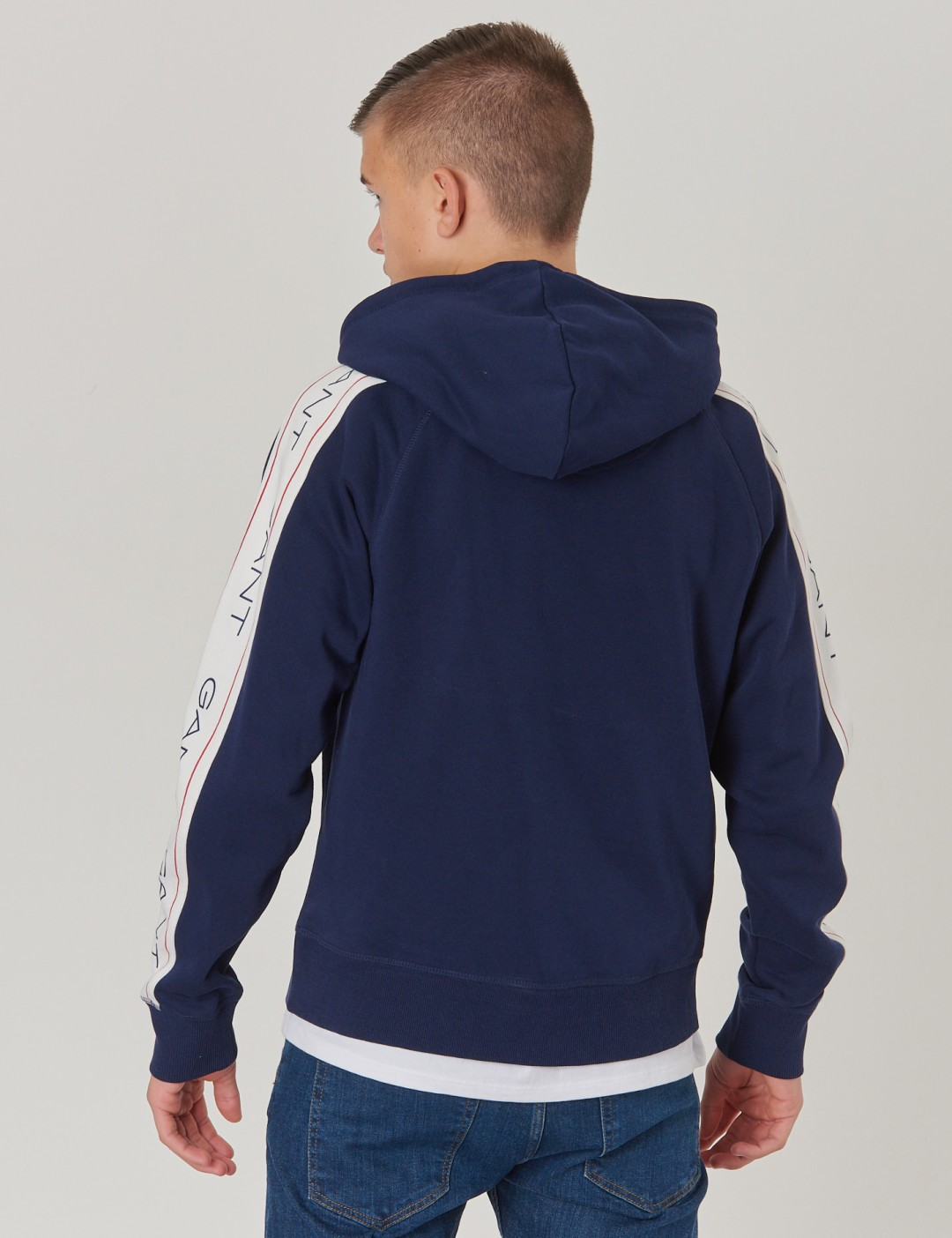gant hoodie blå