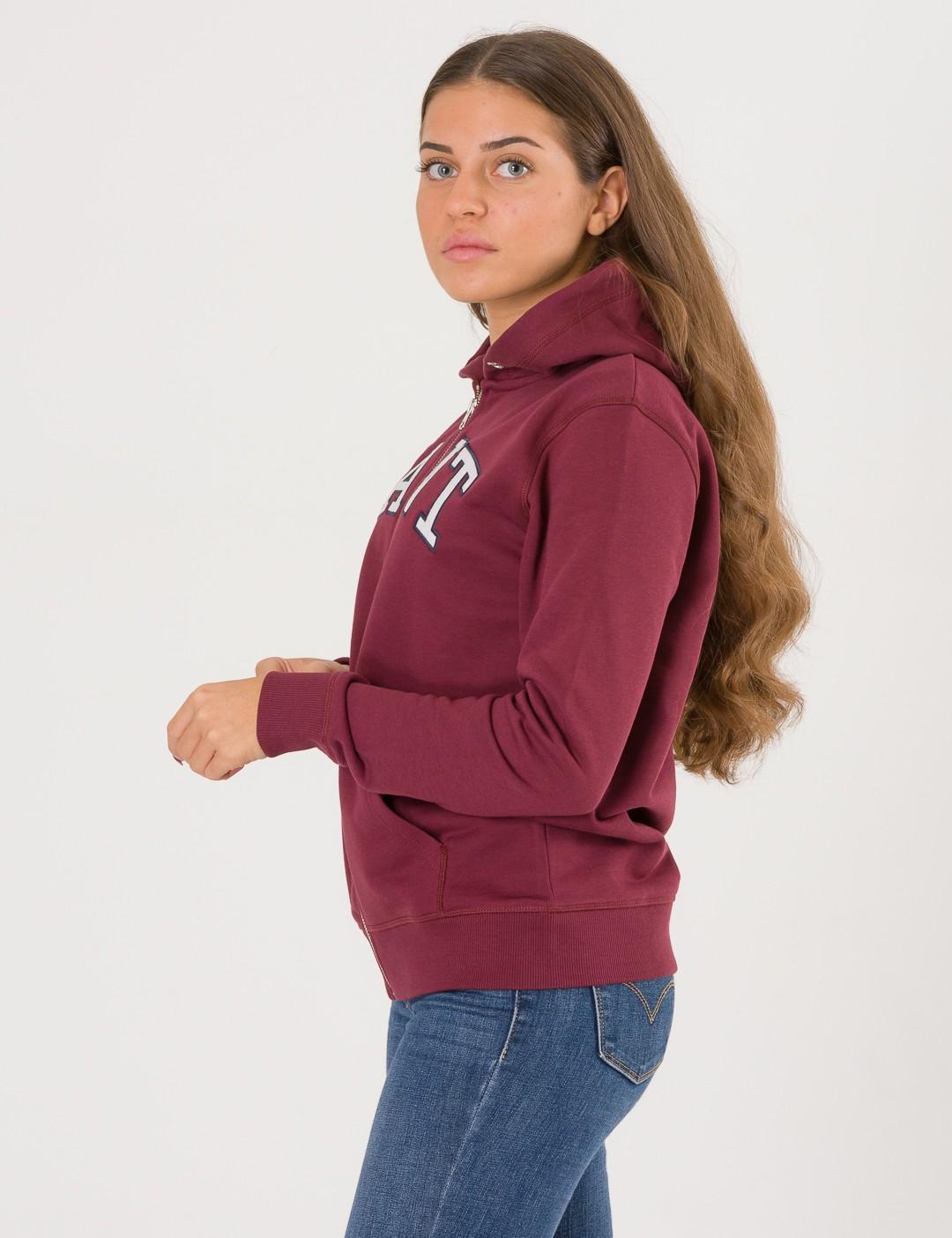 fbfd1424cc5d Om Tb. Gant Full Zip Hoodie - Rød från Gant   KidsBrandStore