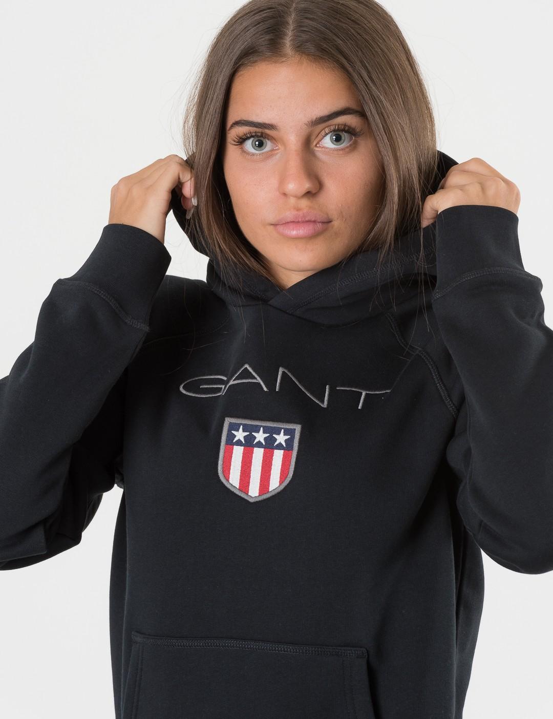 73a01d62fe5a Om Gant Shield Logo Sweat Hoodie - Svart från Gant   KidsBrandStore