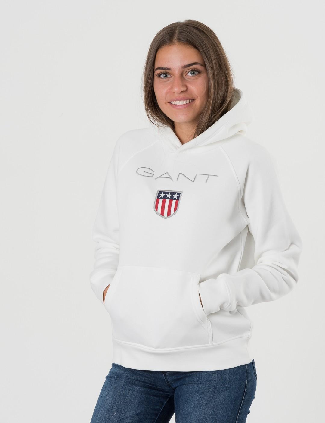 04a2b8e4 Om Gant Shield Logo Sweat Hoodie - Hvit från Gant | KidsBrandStore