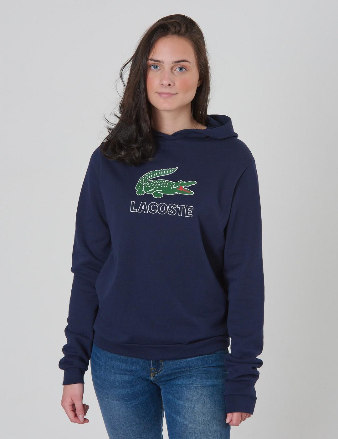 4673ec36475 Om Sweatshirt - Blå från Lacoste   KidsBrandStore