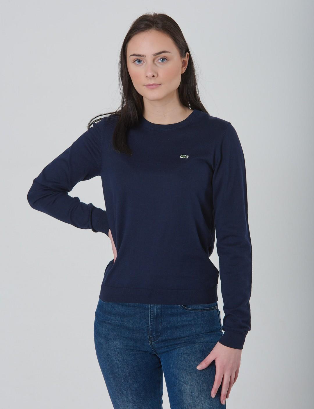 0a403e68295 Om Sweater - Blå från Lacoste   KidsBrandStore