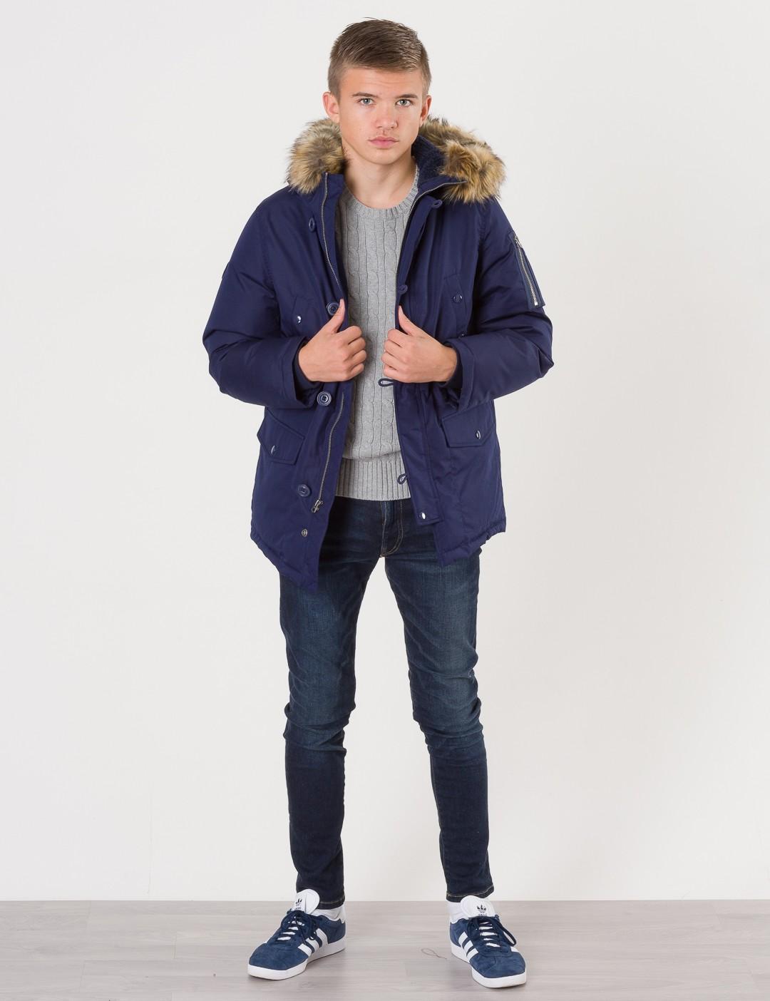 48773dd177d0 Om Parka Jacket - Blå från Ralph Lauren | KidsBrandStore