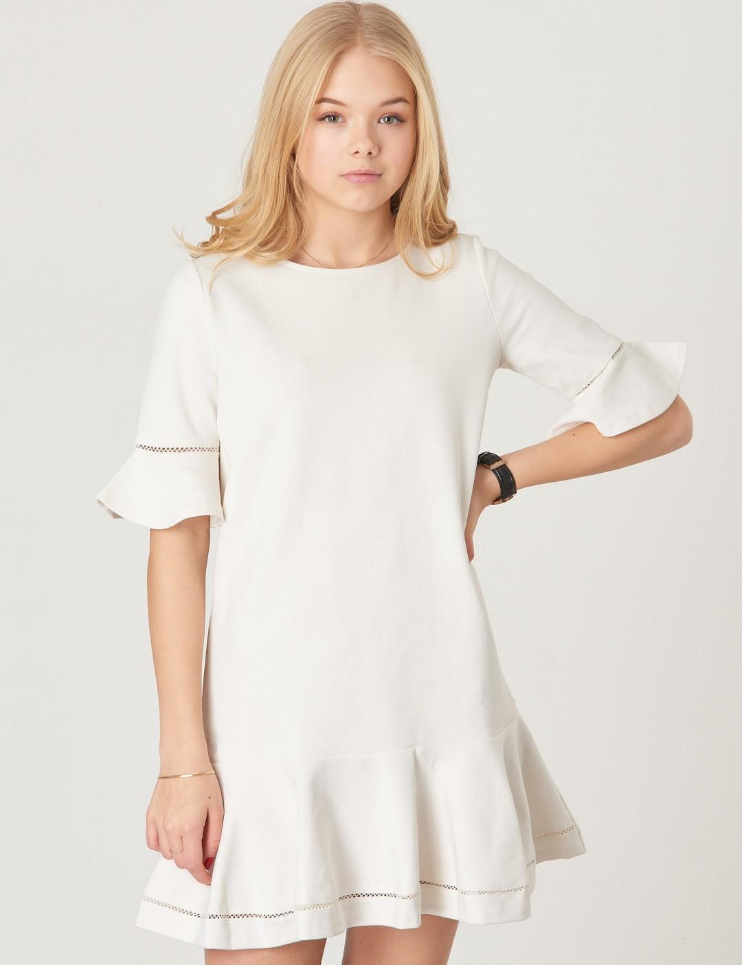 Ralph Lauren Hvid Dress Ponte Om Från Kidsbrandstore TXSqIxxwnP