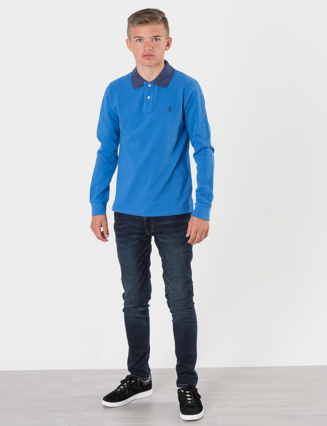f2d3d6b09e7 Om Slim Polo - Blå från Ralph Lauren | KidsBrandStore