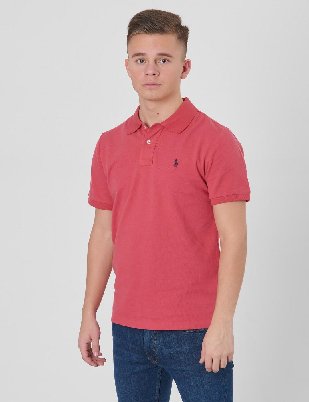 9f16541f345 Om Slim Polo - Röd från Ralph Lauren | KidsBrandStore