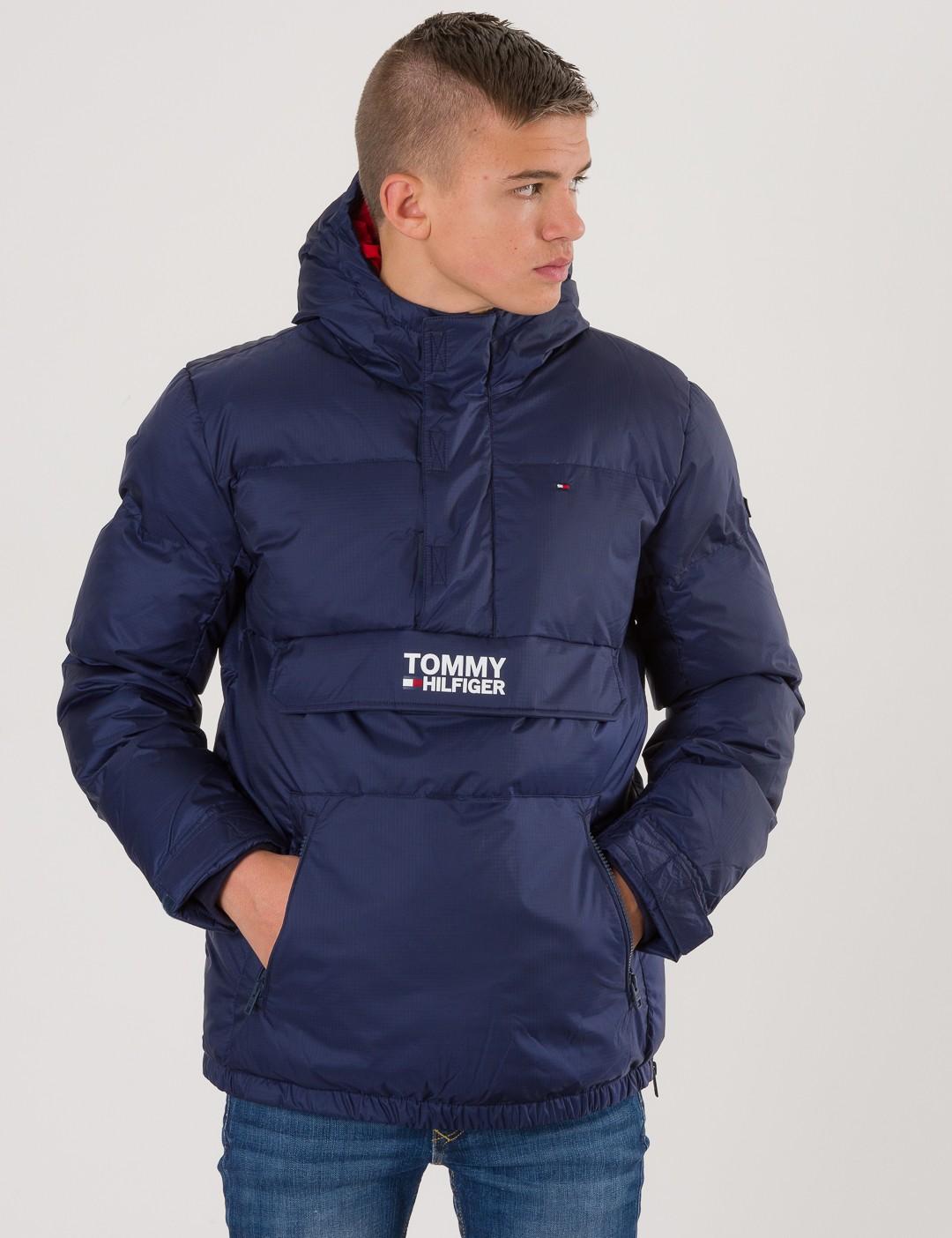 9dec2f44 Om Padded Pop Over Jacket - Blå från Tommy Hilfiger   KidsBrandStore