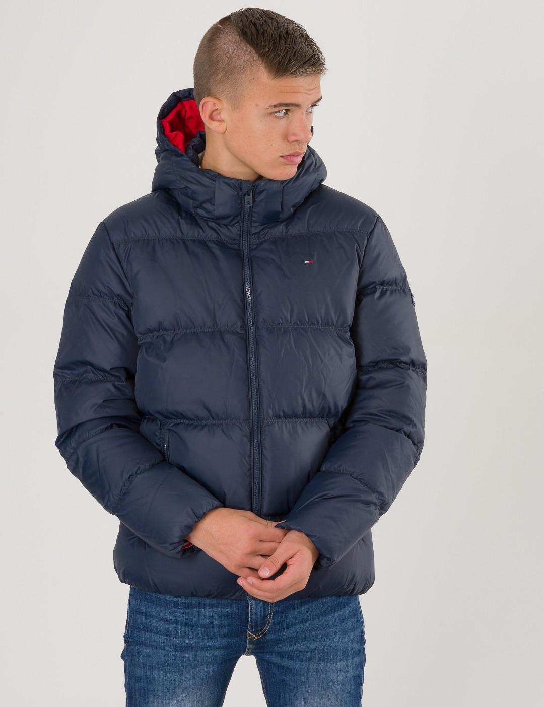 eca37cb3 Om Essential Basic Down Jacket - Blå från Tommy Hilfiger ...