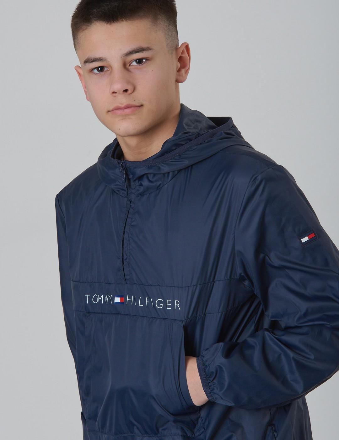 d8a646fd439e9 Pop-Over Jacket - Blau - Tommy Hilfiger