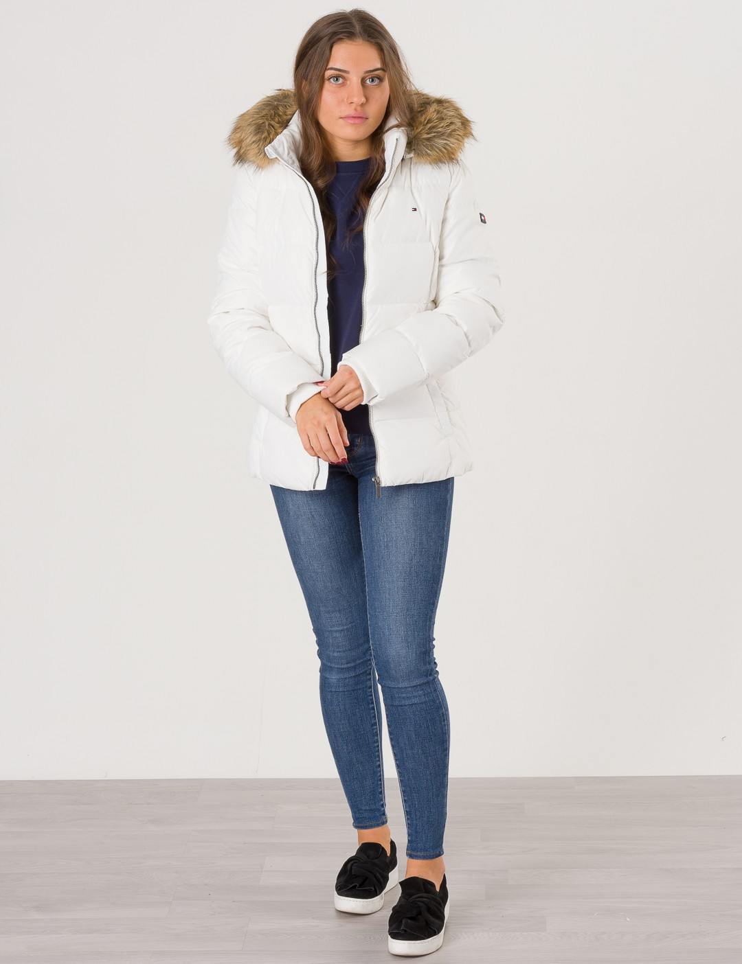 355b9b95c Om Essential Basic Down Jacket - Vit från Tommy Hilfiger ...