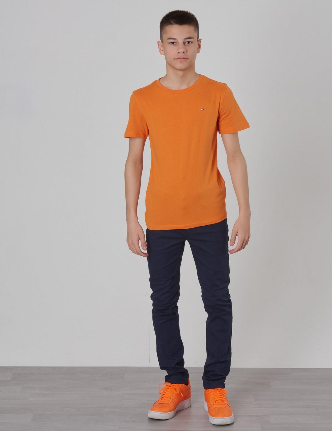 b52644324bd89 Original Cn Tee S s - Orange - Tommy Hilfiger