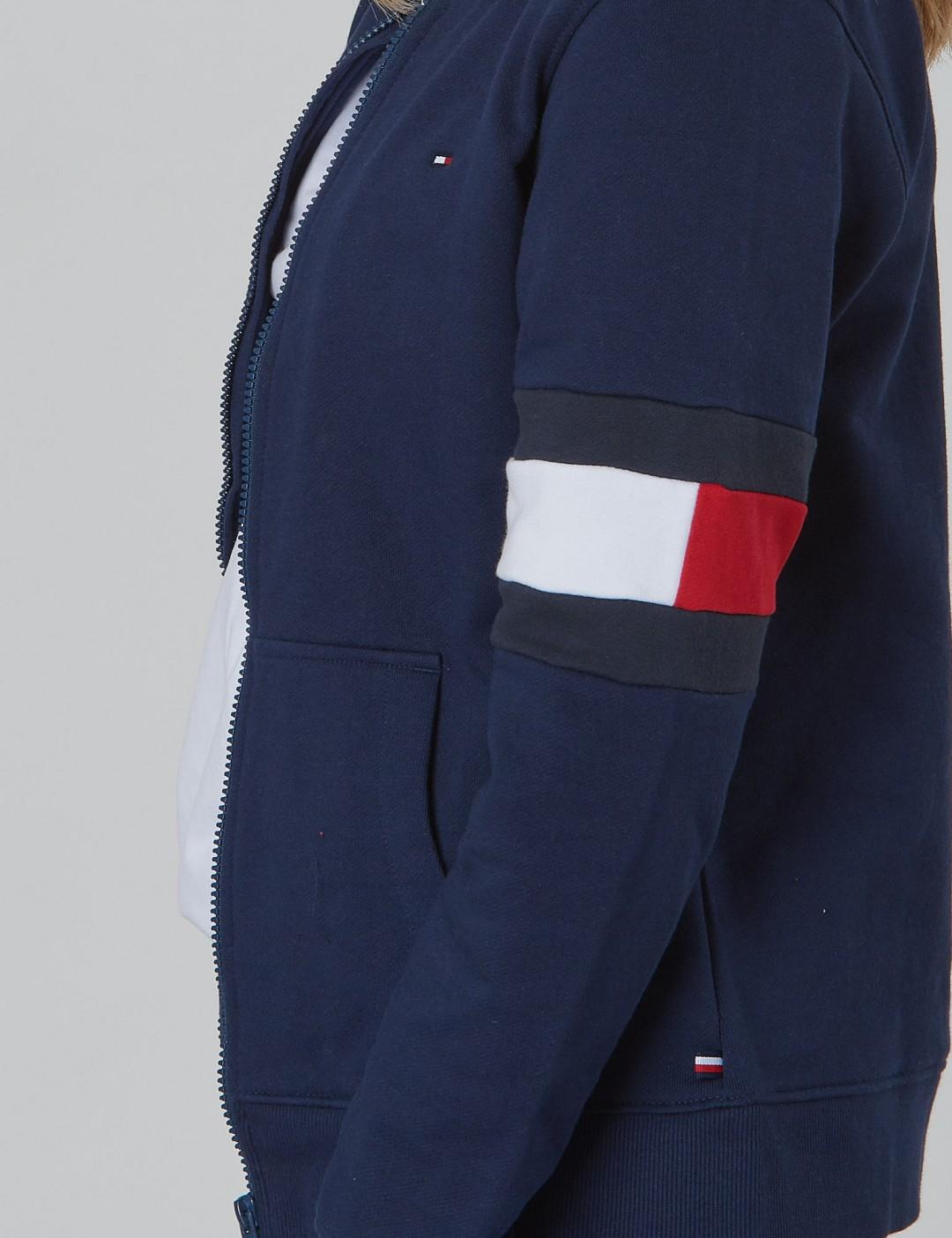 0448d72653bb1 Cut + Sew Flag Tracktop - Blau - Tommy Hilfiger