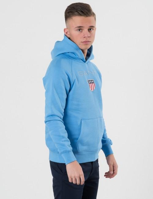 da19c5f4fee Kidsbrandstore Hoodie Sweat Logo Blå Om Gant Shield Från xwt0qOTn86