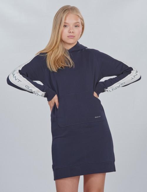 Gant barnkläder - D1. . GANT ICON SWEAT HOODIE DRESS