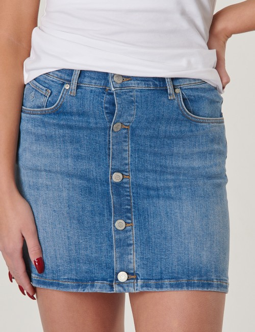 Gant - TG. BUTTON DENIM SKIRT