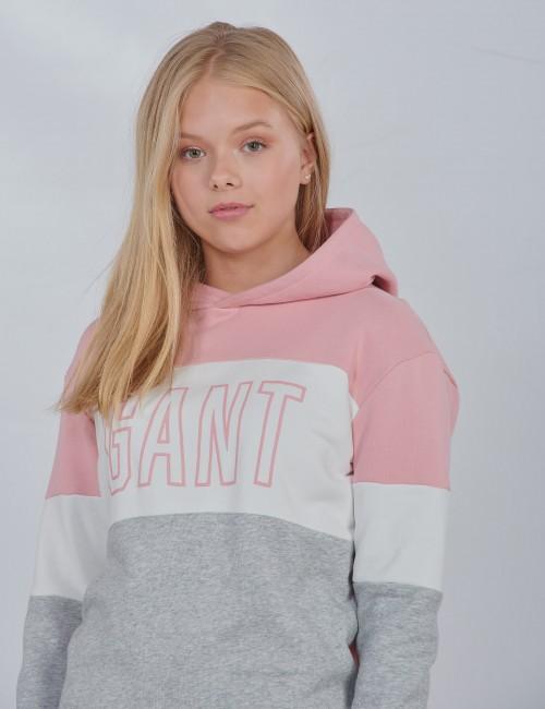 Gant - D1. GANT GIRLS BLOCK HOODIE DRESS