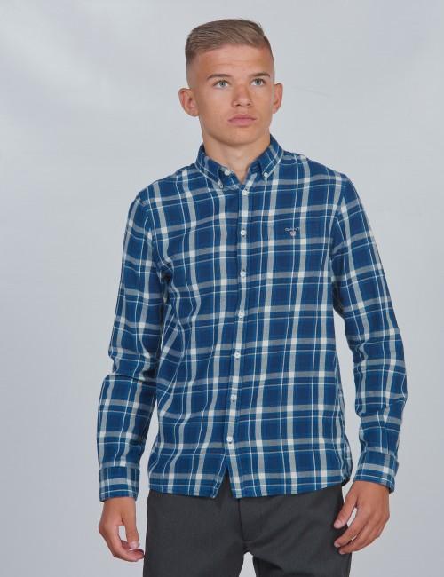 Gant barnkläder - D1. FLANNEL INDIGO CHECK SHIRT