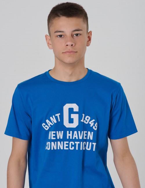 Gant barnkläder - GANT COLLEGIATE PRINT SS T-SH