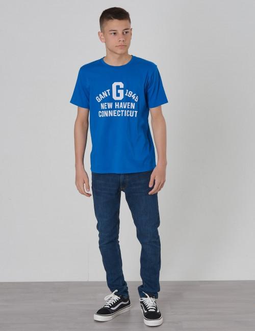 Gant - GANT COLLEGIATE PRINT SS T-SH