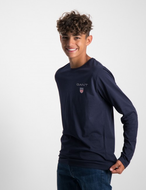 Gant barnkläder - MEDIUM SHIELD LS T-SHIRT