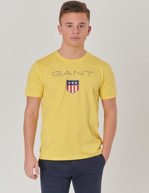 Gant - D1.  GANT SHIELD LOGO SS T-SHIRT