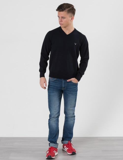 Gant barnkläder - O. LT WT COTTON V-NECK