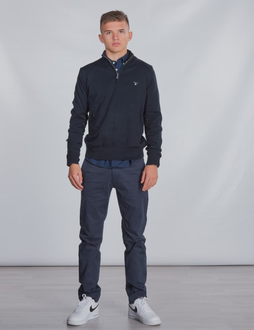 Gant - TB. LT WT COTTON HALF ZIP