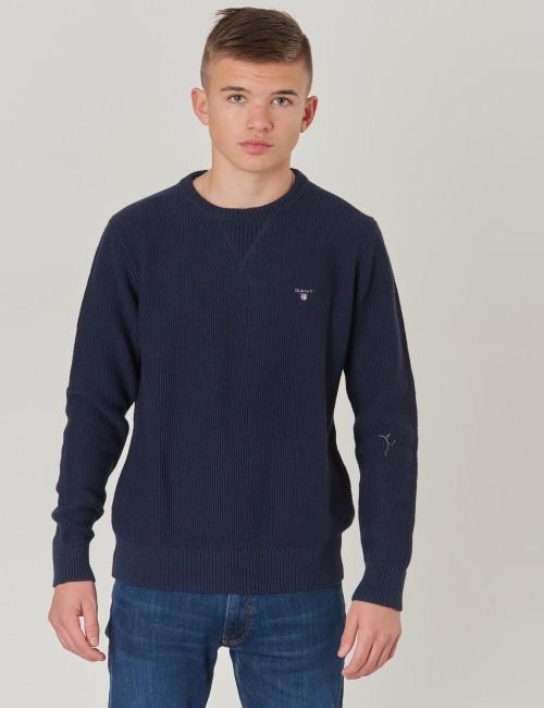 Gant barnkläder - WAFFLE STRUCTURE CREW
