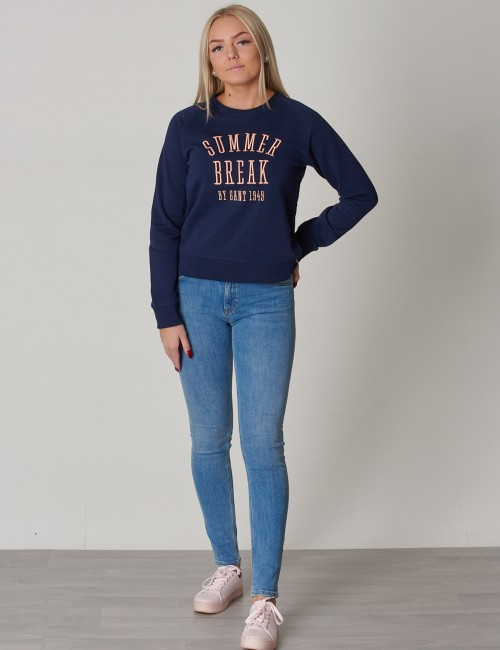 Gant barnkläder - TG SUMMER LOGO C-NECK SWEAT