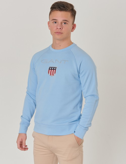Gant barnkläder - D1.  GANT SHIELD LOGO SWEAT C-NECK