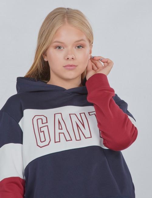Gant - D1. GANT GIRLS BLOCK HOODIE