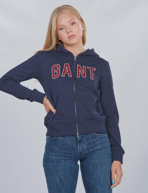 Gant - D1. GANT LOGO FULL ZIP HOODIE