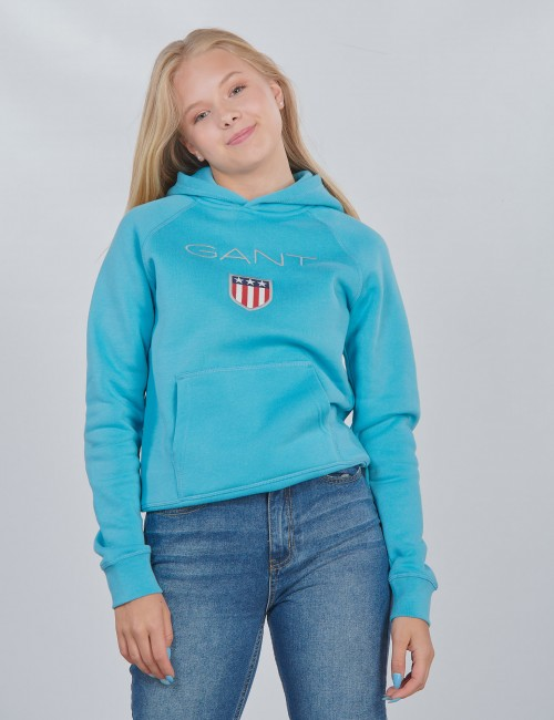 Gant barnkläder - SHIELD LOGO HOODIE