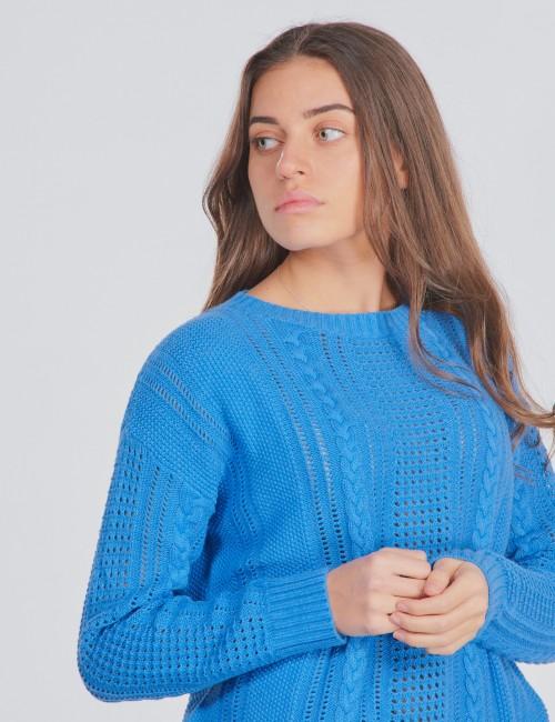 Gant barnkläder - LACE CABLE CREW