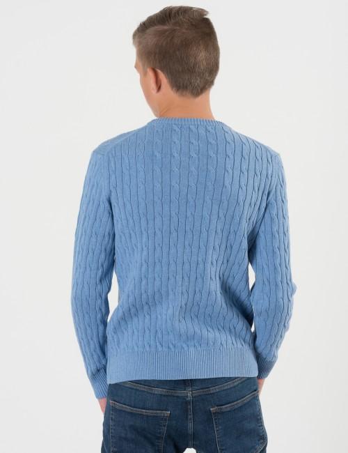 Gant barnkläder - COTTON CABLE CREW