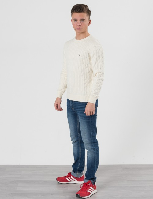 Gant barnkläder - O. COTTON CABLE CREW