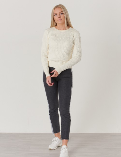 Gant - TG.GIRLS STRETCH COTTON CABLE CREW