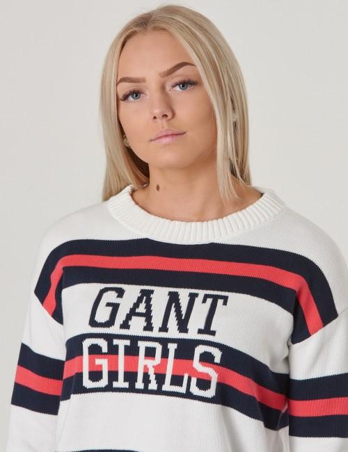 Gant barnkläder - TG BARSTRIPE LOGO CROPPED CREW