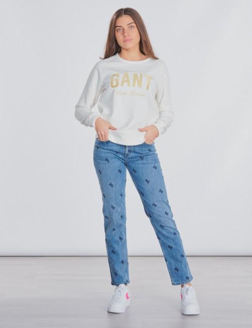 Gant barnkläder - SHINY GANT C-NECK SWEAT