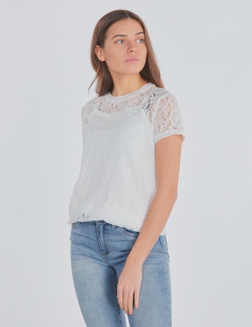 Garcia barnkläder - Girls T-shirt With Lace